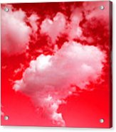 Clouds With Red Sky Acrylic Print