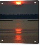 Cloudy Bay Sunset Acrylic Print