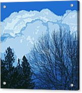 Cloudy Blue Dream Acrylic Print