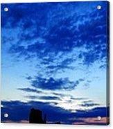 Cloudy Blue Monument Acrylic Print
