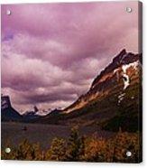 Cloudy Morning At Glacier Acrylic Print