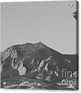 Co Rocky Mountain Front Range Hot Air Balloon View Bw Acrylic Print