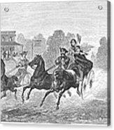 Coaching, 1860 Acrylic Print