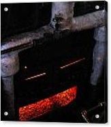 Coal Burner Face Acrylic Print