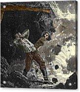 Coal Mine Explosion, 19th Century Acrylic Print by Sheila Terry