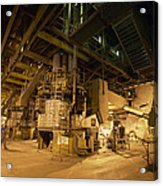 Coal-pulverising Unit At A Power Station Acrylic Print