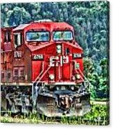 Coal Train Hdr Acrylic Print