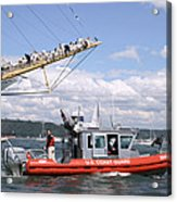 Coast Guard With Tall Ships Acrylic Print