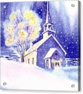 Coastal Church Christmas Acrylic Print