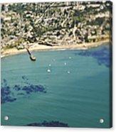 Coastal Community And Sailboats Acrylic Print by Eddy Joaquim