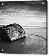 Coastal Scene Bw Acrylic Print