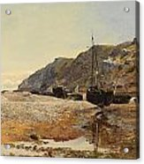 Coastal Scene Acrylic Print by Henry Moore