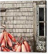 Coastal Shanty And Buoys. Acrylic Print