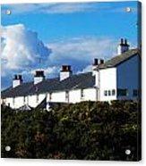Coastguard Cottages Dunwich Heath Suffolk Acrylic Print by Darren Burroughs