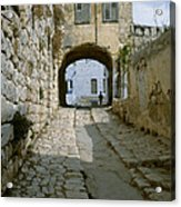 Cobbled Street In Safed Acrylic Print