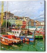 Cobh Town In Ireland Acrylic Print