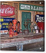 Coca Cola - Rexall - Ok Used Tires Signs And Other Antiques Acrylic Print
