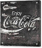Coca Cola Pink Grunge Sign Acrylic Print