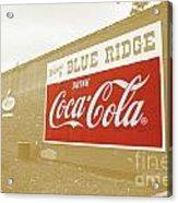 Coca-cola Sepia Acrylic Print
