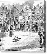 Cock Fighting, 1866 Acrylic Print