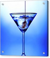 Cocktail Being Poured Acrylic Print by Jane Rix