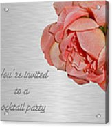 Cocktail Party Invitation - Fabric Rose Acrylic Print