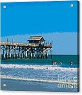 Cocoa Beach Pier Florida Acrylic Print