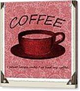 Coffee 2 Scrapbook Acrylic Print