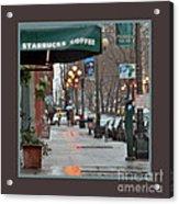 Coffee And Rain In Seattle Acrylic Print