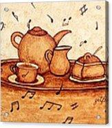Coffee Break 2 Coffee Painting Acrylic Print