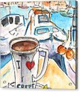 Coffee Break In Heraklion In Crete Acrylic Print