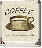 Coffee Cup 3 Scrapbook Acrylic Print