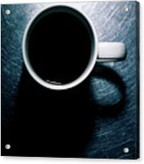 Coffee Cup On Stainless Steel. Acrylic Print