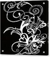 Coffee Flowers 1 Bw Acrylic Print