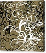Coffee Flowers 1 Olive Acrylic Print