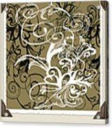 Coffee Flowers 1 Olive Scrapbook Acrylic Print