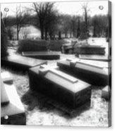 Coffins And Angel Acrylic Print