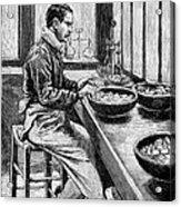 Coin Production, 19th Century Acrylic Print