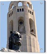 Coit Tower Statue Columbus Acrylic Print