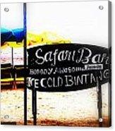 Cold Bintang At The Safari Bar In Bali Acrylic Print by Funkpix Photo Hunter