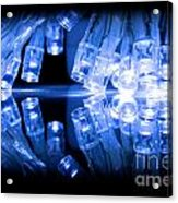 Cold Blue Led Lights Closeup Acrylic Print