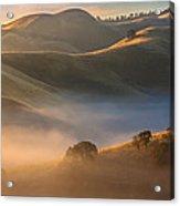 Cold Fog At Sunrise Acrylic Print