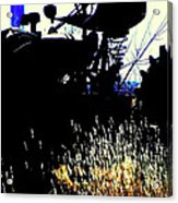 Cold Morning Tractor  Acrylic Print