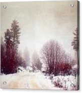 Cold Road Acrylic Print