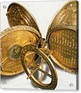 Cole Astronomical Compendium Dial, 1569 Acrylic Print