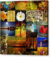 Collage Of Colors Acrylic Print