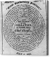 Collation Ticket, 1824 Acrylic Print