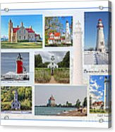 Collection Of Lighthouses Acrylic Print