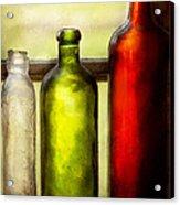 Collector - Bottles - Still Life Of Three Bottles  Acrylic Print