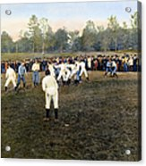 College Footbal Game, 1889 Acrylic Print